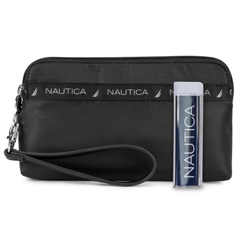 Captain's Quarters Soft Wallet with Battery Charger - True Black