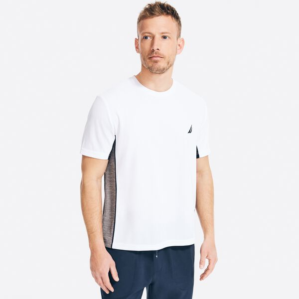 NAVTECH SUSTAINABLY CRAFTED COLORBLOCK T-SHIRT - Bright White