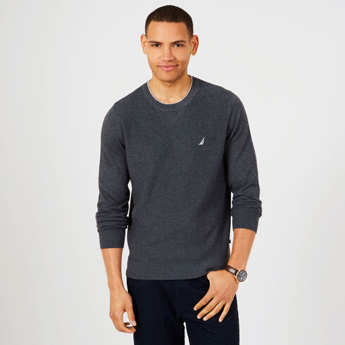 Navtech Performance Crewneck Sweater - Charcoal Hthr