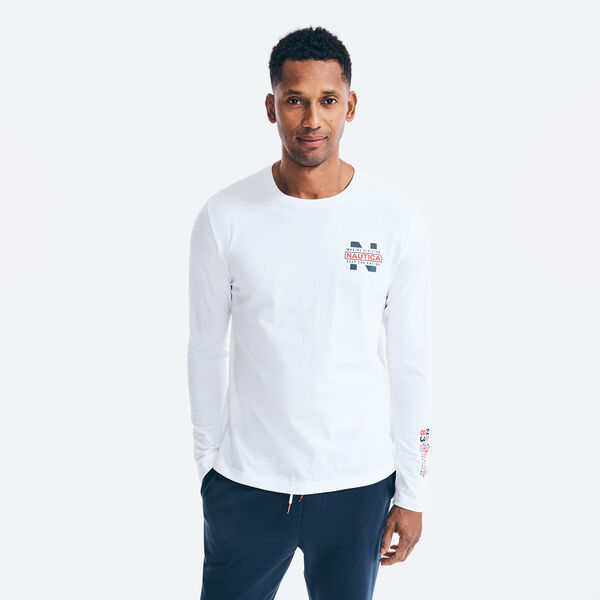 MARINE DIVISION GRAPHIC LONG SLEEVE T-SHIRT - Bright White