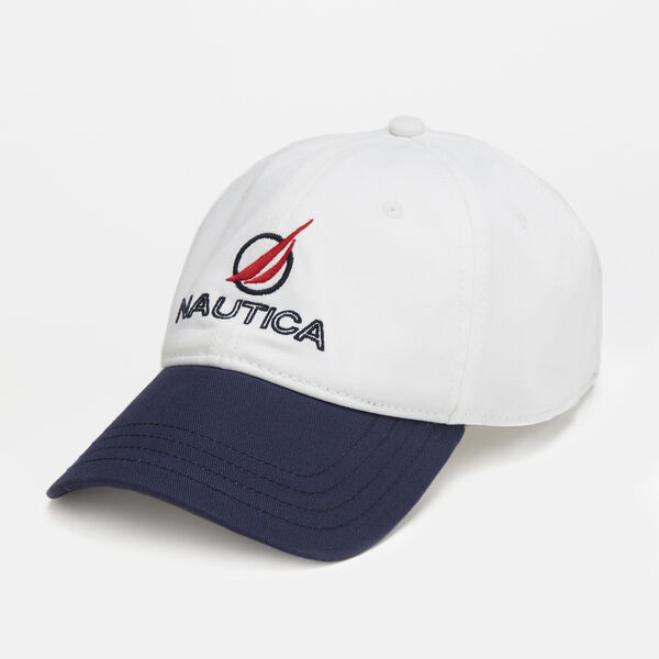 EMBROIDERED CIRCLE J-CLASS CAP - Bright White