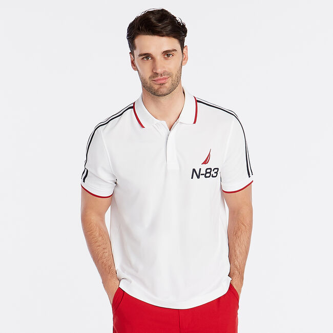 CLASSIC FIT PERFORMANCE POLO,Bright White,large