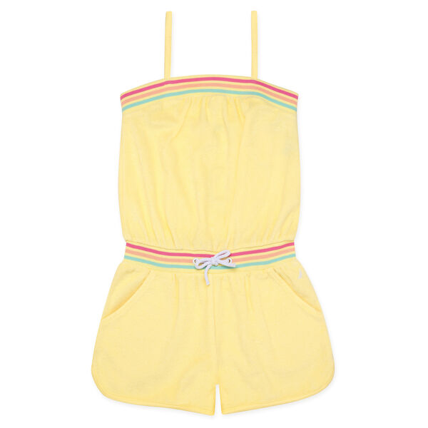 GIRLS' TERRY CLOTH ROMPER - Lemonade