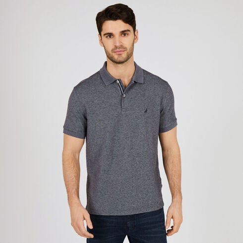 Short Sleeve Classic Fit Deck Polo - Charcoal Hthr