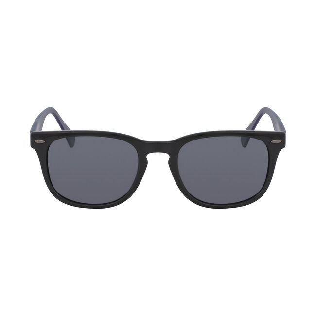 Squared Sunglasses with Black Frame,Black,large
