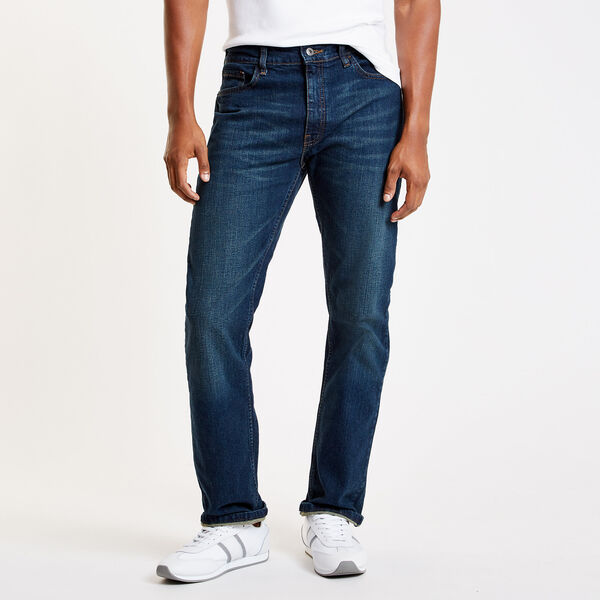 Aegean Sea Wash Straight Leg Jeans - Double Navy