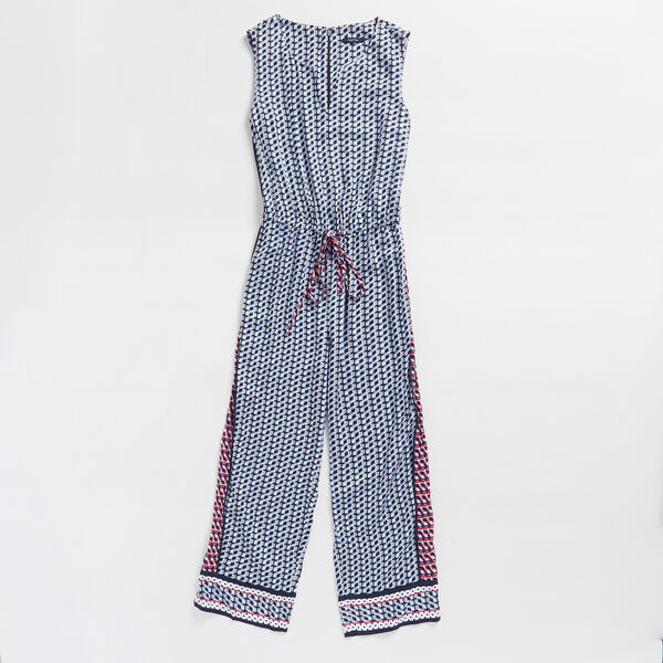 COLORBLOCK GEO PRINT JUMPSUIT - Bolt Blue