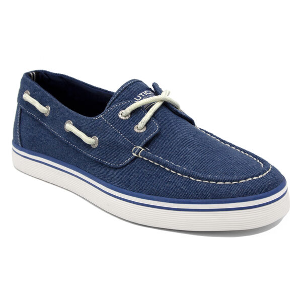 Galley Boat Shoe in Blue Denim - Blue Wash