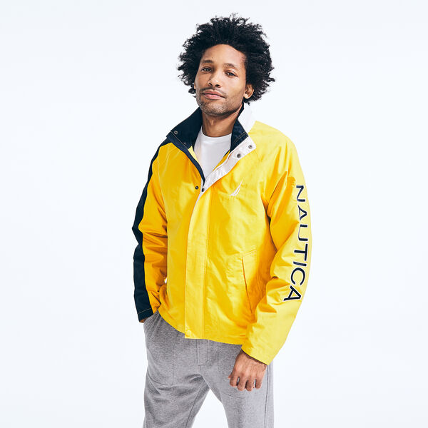 LIGHTWEIGHT LOGO WINDBREAKER JACKET - Old Gold