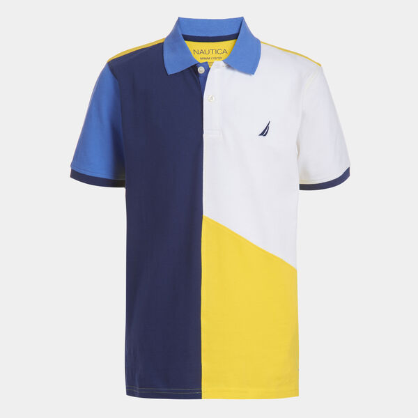 LITTLE BOYS' MICKEY COLORBLOCK HERITAGE POLO (4-7) - Marigold