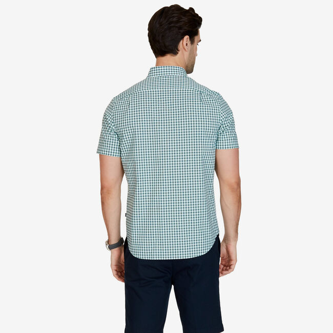 Big & Tall Maritime Plaid Button-Down Shirt,Green Spruce,large