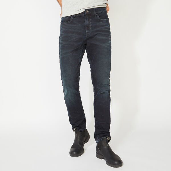 NAUTICA JEANS CO. ORIGINAL SLIM FIT DENIM IN BLACK SHADOW - Black Shadow Wash