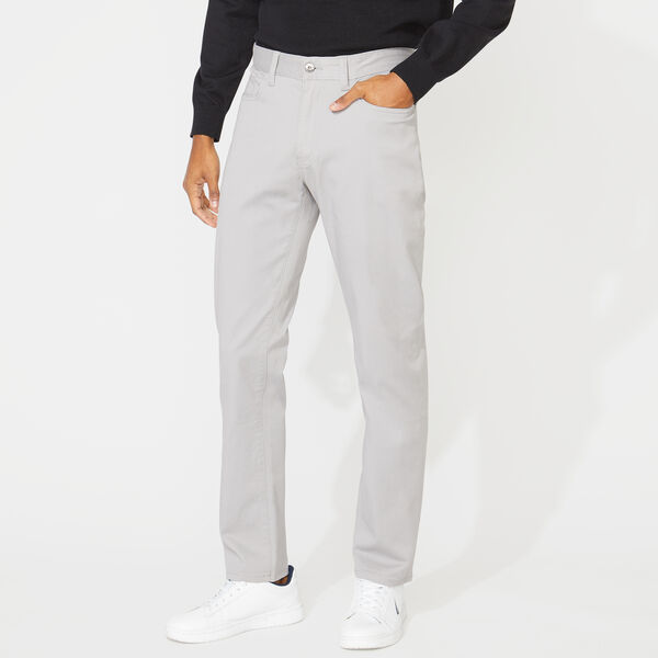 SLIM FIT STRETCH 5-POCKET PANTS - Grey Alloy