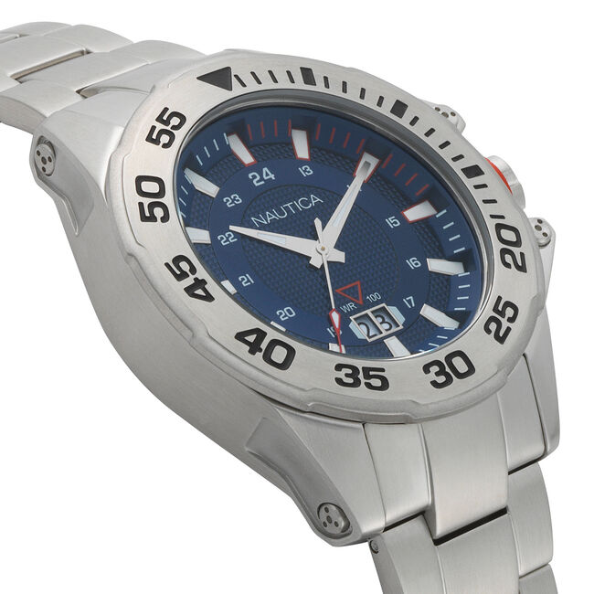 Westview Stainless Steel 3-Hand Watch,Multi,large