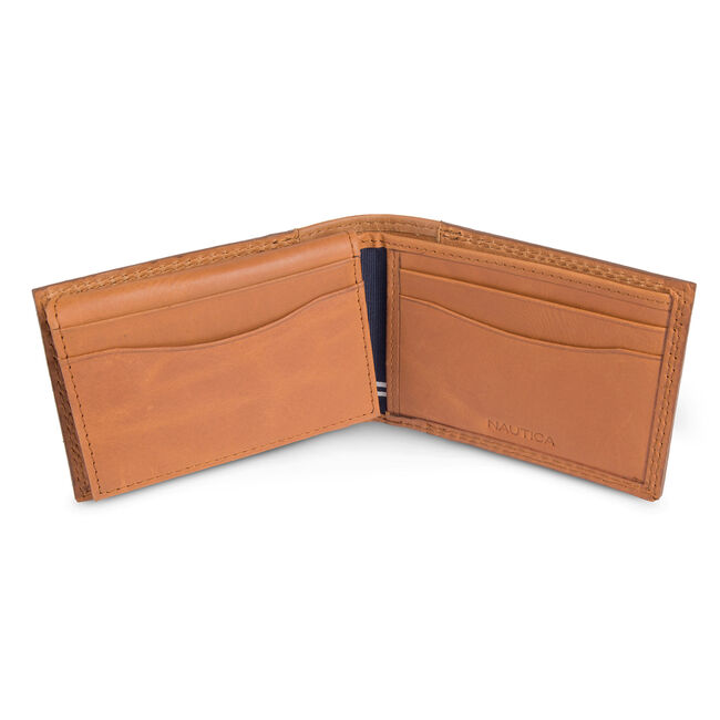 Malaquite Slim Passcase Wallet,Oyster Brown,large