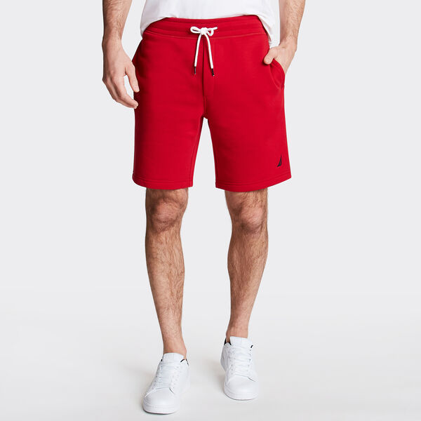 "9"" LOGO KNIT SHORTS    - Nautica Red"