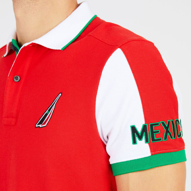 Slim Fit Mexico Performance Polo,Reckoning Red,large