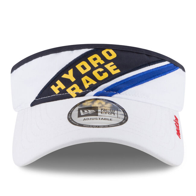 Diagonal Stripe Hydro Race Visor,White,large