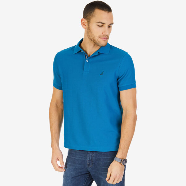 Short Sleeve Slim Fit Performance Tech Polo Shirt - Light Dusk
