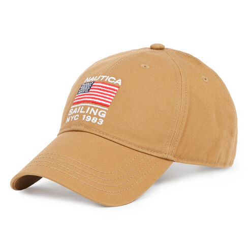 American Flag Sailing NYC 1983 Hat - Raw Umber