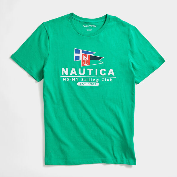 FLAG SAILING CLUB GRAPHIC T-SHIRT - Bright Green