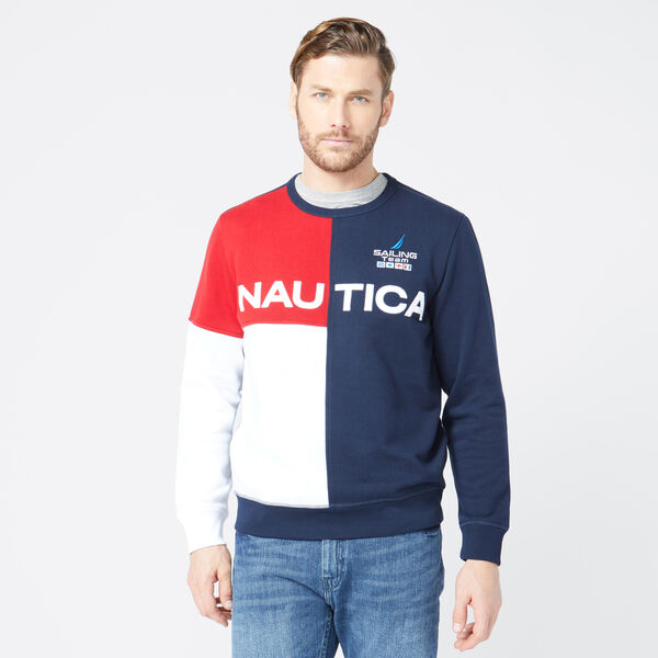 NAUTICA LOGO COLORBLOCK SWEATSHIRT - Navy
