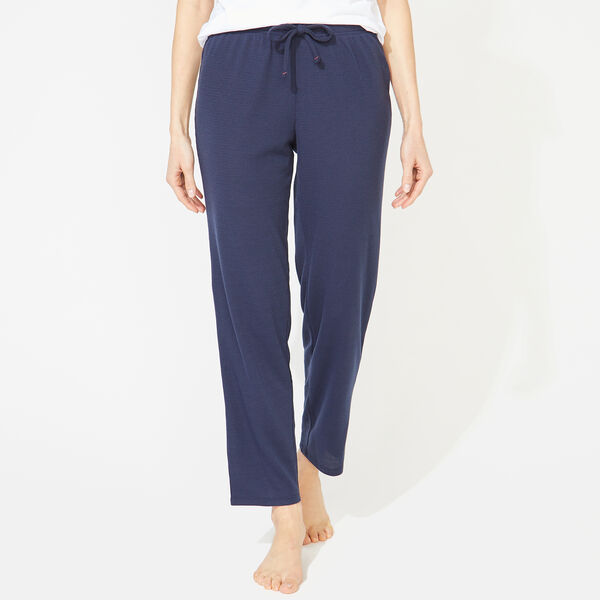 THERMAL KNIT SLEEP PANTS - Ice Blue