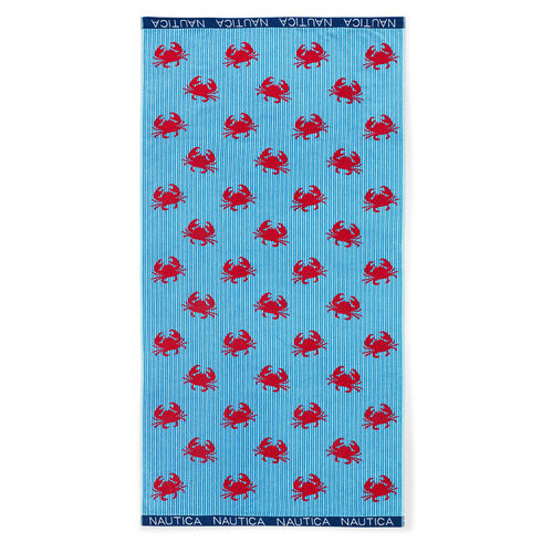 Crabby Crabs Beach Towel - Navy