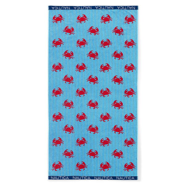 CRAB CRITTER BEACH TOWEL - Navy