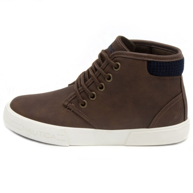 Breakwater High-Top Sneakers,Chocolate,large