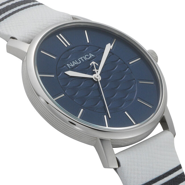 Coral Gables 3-Hand Watch - White/Blue ,Multi,large