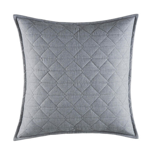 Clearview Gray Square Pillow - Radial Grey