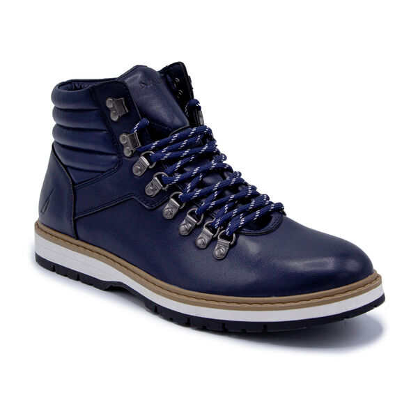 LACE UP WINTER BOOTS - Navy