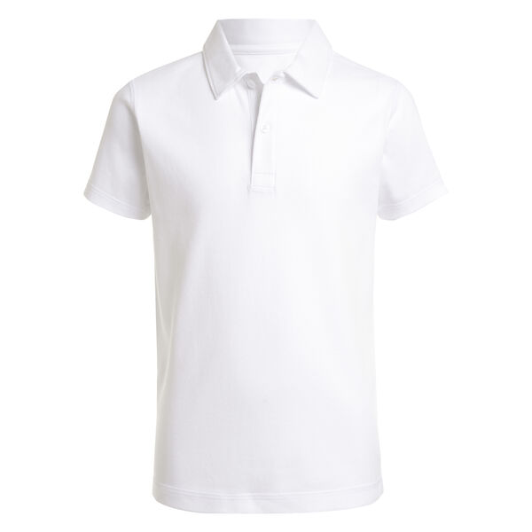 BOYS' SUPER SOFT COTTON POLO (8-20) - Antique White Wash