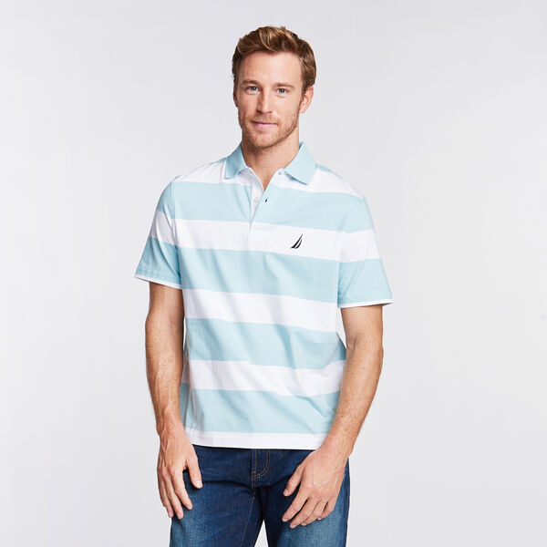 Stripe Classic Fit Polo - Harbor Mist