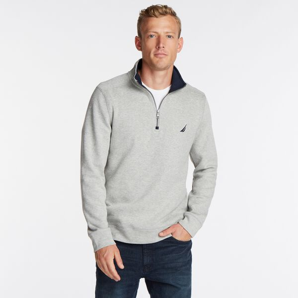 J-CLASS QUARTER-ZIP PULLOVER - Grey Heather