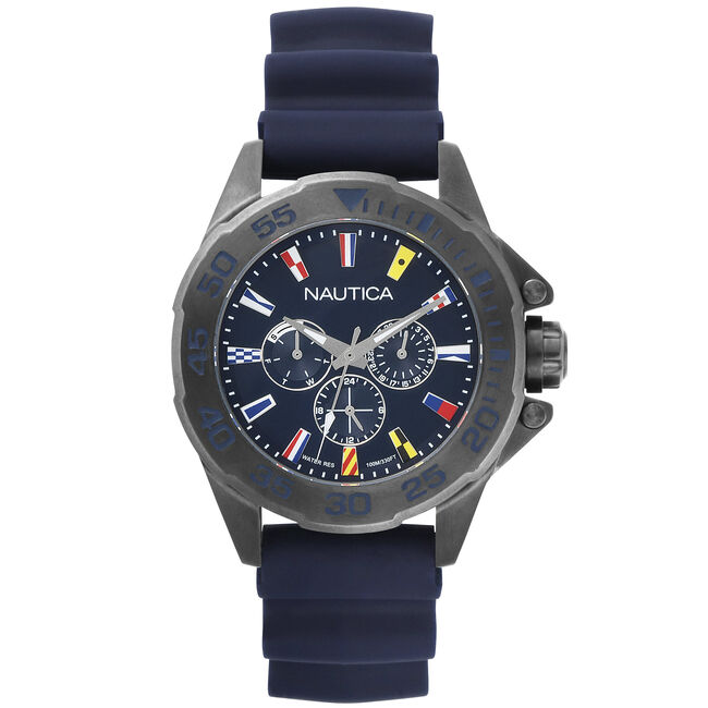 Miami Sailing Flags Watch - Navy,Multi,large