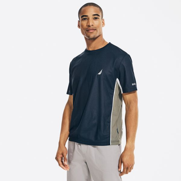 NAVTECH SUSTAINABLY CRAFTED COLORBLOCK T-SHIRT - Navy