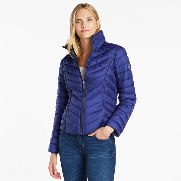 Reversible Packable Puffer Jacket - Nite Sea Heather