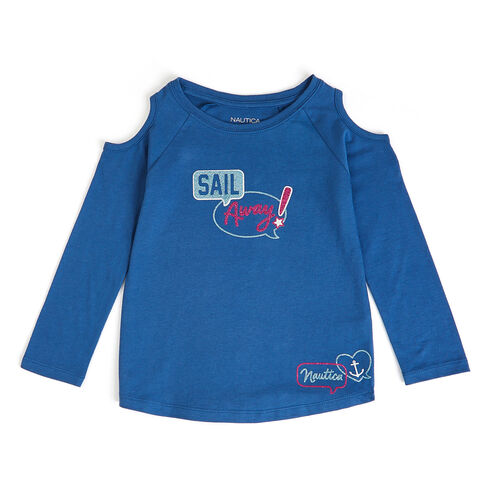 Girls' Sail Away Long Sleeve Graphic Tee (7-16) - Admiral Blue