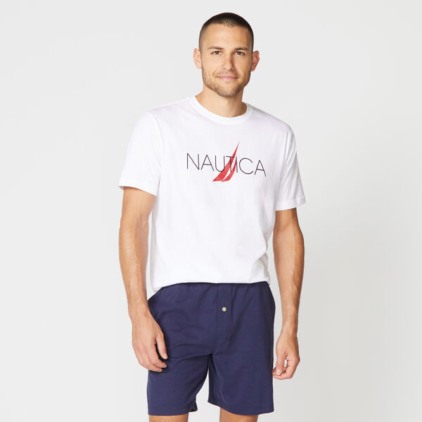 NAUTICA LOGO SLEEP T-SHIRT - Bright White