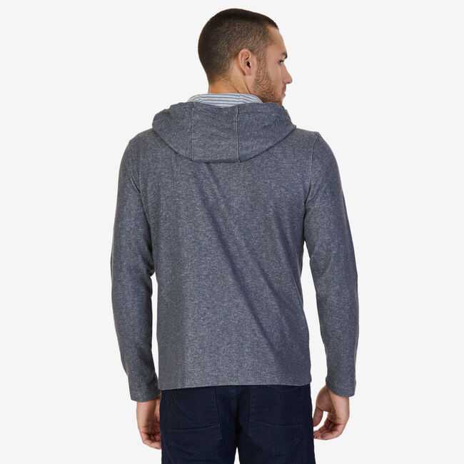 French Rib Pullover Hoodie,Charcoal Hthr,large