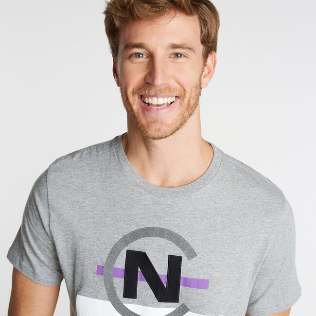 NAUTICA COMPETITION GRAPHIC TEE,Grey Heather,large