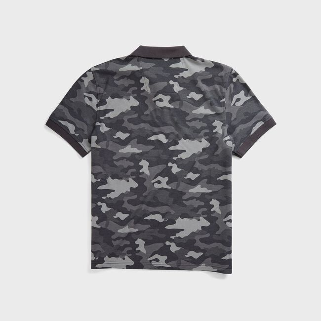 CLASSIC FIT CAMOUFLAGE POLO,Grey Carbon,large