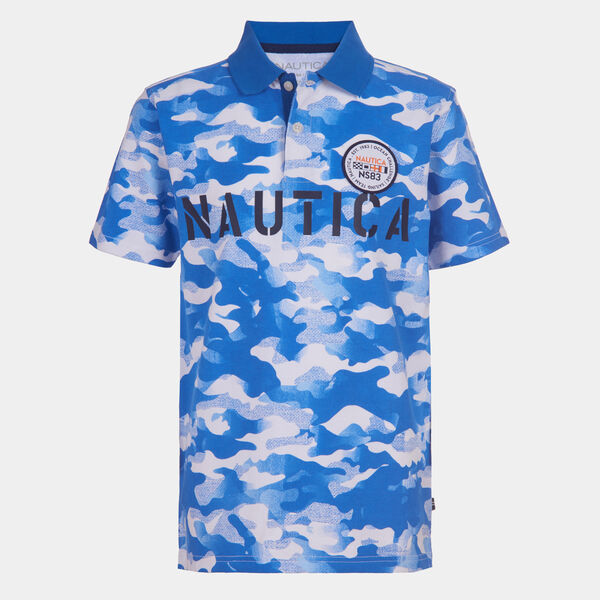 BOYS' CAMOUFLAGE HERITAGE POLO (8-20) - True Navy