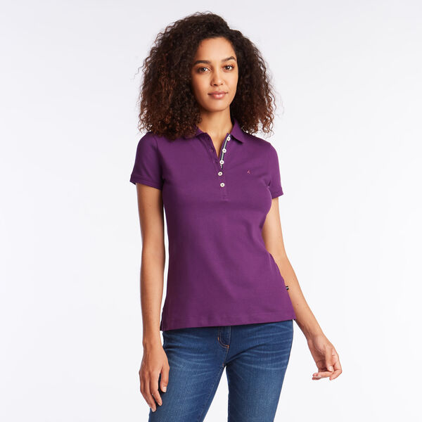 CLASSIC FIT POLO SHIRT WITH CHAMBRAY BACKED COLLAR - Ridge