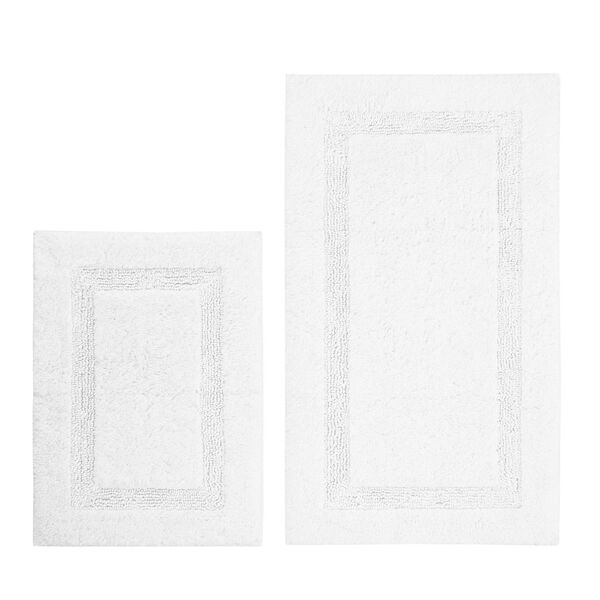 Peniston White Bath Rug Set - Bright White