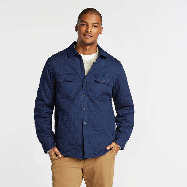SHERPA-LINED QUILTED OVERSHIRT - J Navy