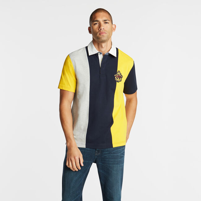 NAUTICA JEANS CO. VERTICAL STRIPE POLO,Navy,large