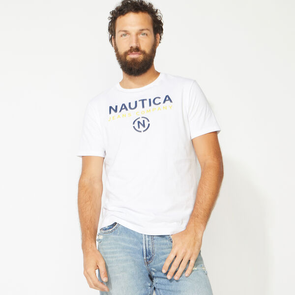 NAUTICA JEANS CO. LOGO TEE - Bright White